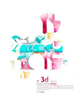 a experimental typo Experimental, Multimedia, Typography Design, Packaging Design, Fonts, Layout, Graphic Design, My Love, 3d