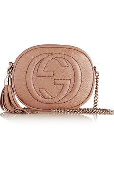Gucci Soho mini textured-leather shoulder bag | NET-A-PORTER