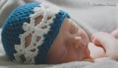Newborn Snowflake Beanie Free Crochet Pattern from Sincerely Pam