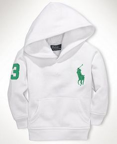 Ralph Lauren Baby Hoodie, Baby Boys Collection Fleece Big Polo Pony Hoodie - Kids Baby Boy (0-24 months) - Macy's