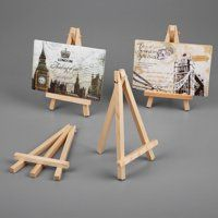 Wooden Easel Artist Pen Brushes Mini Supplies Stand Photo Art Display Holder Craft Paint By Number Popsicle Stick Crafts, Craft Stick Crafts, Diy And Crafts, Paper Crafts, Craft Paint, Toddler Easel, Wooden Painting, Wooden Easel, Wooden Art