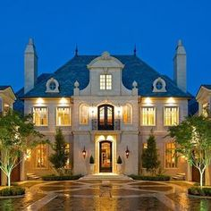 Classic French House - Traditional - Exterior - dallas - by Richard Drummond Davis Architects Houses Architecture, French Architecture, Green Architecture, Beautiful Architecture, Architecture Interiors, Classical Architecture, Architecture Details, Exterior Tradicional, Design Exterior