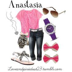 Anastasia, created by loveandpixiedust on Polyvore