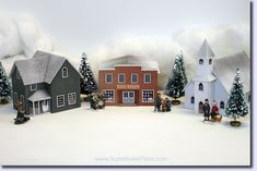 Model Railroad and Diorama Trackside Plans in HO Scale, O Scale, OO Scale, and N Scale Christmas Village Houses, Putz Houses, Christmas Villages, Paper Dolls Printable, Gift Tags Printable, Free Printable, Free Christmas Printables, Christmas Templates, Miniature Christmas