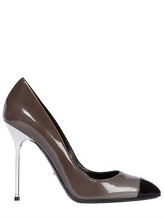SERGIO ROSSI - 105MM LADY JANE PATENT LEATHER PUMPS