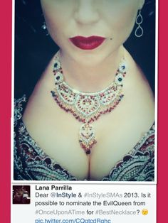 Lana on twitter....Best Necklace award? Also  Best BOOBS Award!