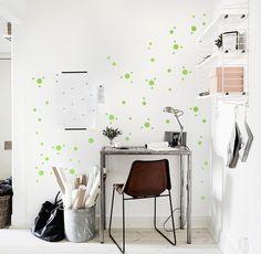Wandtattoos - Konfetti Dots Mix 90er 1 - 5cm Wandsticker Punkte - ein Designerstück von UrbanARTBerlin bei DaWanda