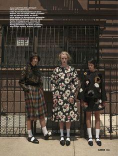 Glamour Germany Editorial October 2014 - Ali Arboux, Anastasija Titko & Edythe Hughes by Hong Jang Hyun