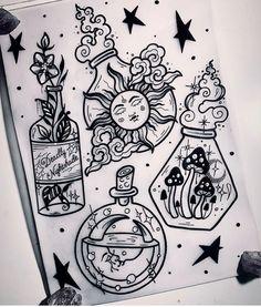 Leg Tattoos, Body Art Tattoos, Small Tattoos, Sleeve Tattoos, Cool Tattoos, Tattos, Tattoo Sketches, Tattoo Drawings, Witchcraft Tattoos