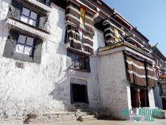 Häuser in der Tashi Ihun Po Monastery in Xigazê, Tibet
