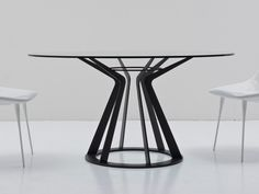 Round crystal table MITOS - Nube Italia