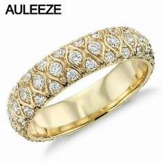 [ $23 OFF ] Forever Elegant Marquise Design Wedding Band Radiance Moissanites Lab Grown Diamond Rings For Women Engagement 14K Yellow Ring