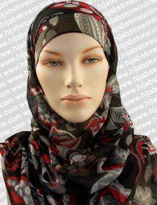 Hijab - Seychelles Fun - Black Maxi