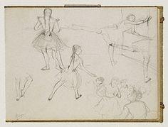 BALLERINA. Ballet Dancers Rehearsing, Edgar Germain Hilaire Degas, about 1877