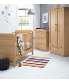Rialto+ 3 Piece Set   Natural Oak. Nursery Furniture ...