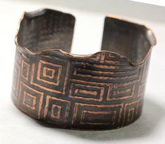 Textured Copper Cuff by IronMountainArts on Etsy