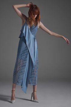 721784c7f083e2 Diane von Furstenberg - Spring 2017 Ready-to-Wear Texture Wrap Dress