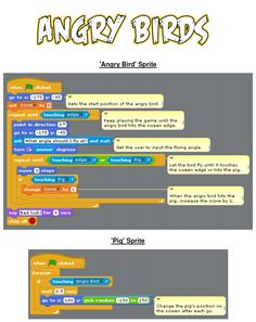 Making an Angry Birds Scratch game. Lovely resource from Simon Haughton.