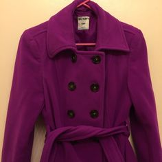 Purple Peacoat Very soft and warm Peacoat from old navy. Fairly new and is comfortable! Old Navy Jackets & Coats Pea Coats