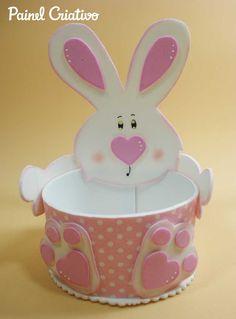 Como fazer lembrancinha pascoa coelhinho porta guloseima EVA criancas escola3 Foam Crafts, Easy Crafts, Diy And Crafts, Paper Crafts, Animal Crafts For Kids, Easter Crafts For Kids, Basket Crafts, Diy Ostern, Easter Projects