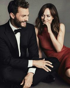 Jamie dornan dakota Johnson model fifty Shades Darker promo joy magazine january 2017