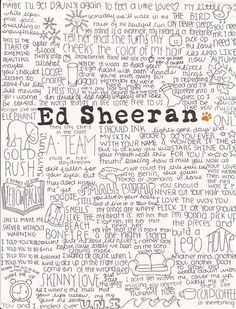 Ed Sheeran is one of the most incredible lyrical geniuses of our time and nobody gets it.