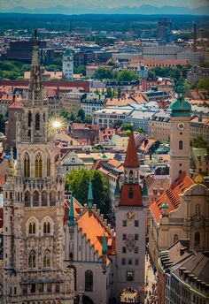 Munich Old Town with Towers -  - Bavaria - Germany