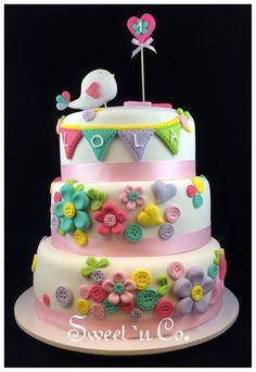 :: Torta LOLA :: Torta de cumpleaños para el primer añito de una nena. First…
