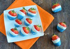 Koningsdag aardbeien - Laura's Bakery #oranje
