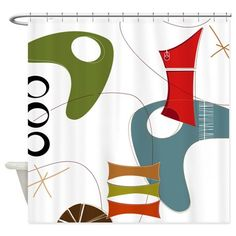 Retro 60s 1d Shower Curtain on CafePress.com