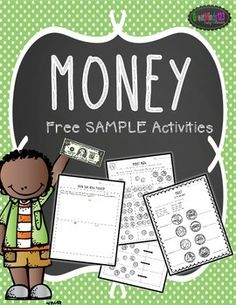 These are free sample activities from our Money Unit!Follow our store by clicking the link at the top of the page to receive notice when we add new freebies and products to our store.  All new units are 50% off for the first 24 hours!Search Terms: | money | common core | math | money unit | coins | worksheets | printables |