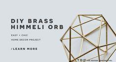 DIY Faux Brass Himmeli Orb