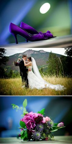 Purple wedding shoes- I need those!