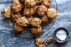Almond & Oat Cookies with Coconut & Dark Chocolate Almond Cookies, Chocolate Chip Cookies, Nut Butter, Almond Butter, Tandoori Chicken, Cookie Dough, Cookie Recipes, Sweet Treats, Clean Eating