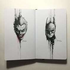 The Dripping Portraits: The Joker x Batman by kerbyrosanes on DeviantArt
