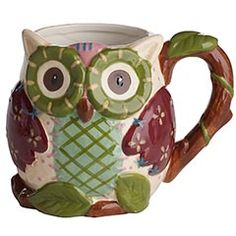 """Pier 1 Owl Mug - I got this for christmas last year and I just LOVE it! Best christmas present in years - my mom knowing my love of both coffee and owls! I felt like she actually found a present that said """"I know you and the things you love."""" Who could ever ask for more? It's the simple things in life!"""