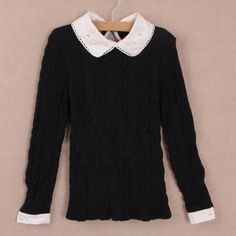 Lolita Blouse Sweater Super sweet Lolita blouse featuring embellished/lace collar. Brand new! Tops Blouses