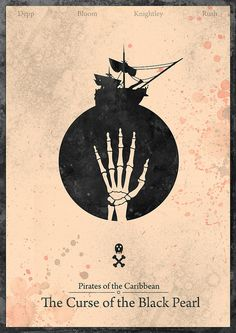 Creative minimalist poster. Pirates of the Caribbean: Curse of the Black Pearl -  by H. Svanegaard.