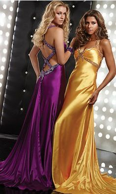 Satin jewels, especially like the Yellow (real weakness for girls in Yellow satin flowing dresses!)