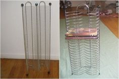 Hurry! & Get Your Bid on this 2 LOT CD/DVD media FLOOR TOWER RACK SET holds *100 CD Jewel Case *24 Video Movie Case - BRIGHT-SILVER Color  [MsFrugaLady on eBay]