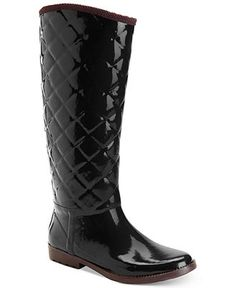 Posh Wellies Quizz Quilted Tall Rain Boot Women