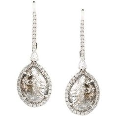Saqqara 18kt white gold diamond drop earrings