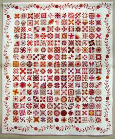 """Red Quilt Filled with Love"".... Tokyo Quilt Festival 2012"