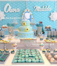 Melina K's Birthday / Frozen fever - Photo Gallery at Catch My Party Frozen Party Food, Frozen Party Favors, Frozen Party Decorations, Disney Frozen Party, Frozen Birthday Theme, 3rd Birthday Parties, 4th Birthday, Shower Party, Baby Shower Parties