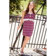 Burgundy Bliss Dress  Whooooo needs a Game Day dress?  This one would look great on you!