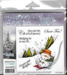 Mulberry Wood  Sledging By  NEW  Christmas by CynthiasCraftingNook