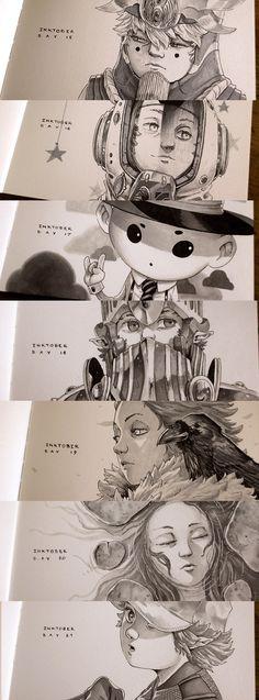 Inktober 2015 Week 3, Xavier Collette on ArtStation at https://www.artstation.com/artwork/6vX0W
