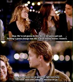 i've never watched one tree hill, but this reminds me of my group of friends and i love it. i'm pretty homesick lately...
