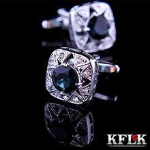 5 couleur KFLK bijoux chemise boutons de manchette pour boutons de manchette mens marque cristal de mariage brassard lien de haute qualité abotoaduras livraison gratuite(China (Mainland))