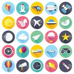Buy Aviation Vector Icons by denkcreative on GraphicRiver. Flat style with long shadows, everything up in the air, aviation themed vector icon illustration. Vector (EPS and. Flat Design Icons, Icon Design, Free Vector Art, Vector Icons, Best Icons, Travel Icon, Long Shadow, Icon Collection, Icon Set